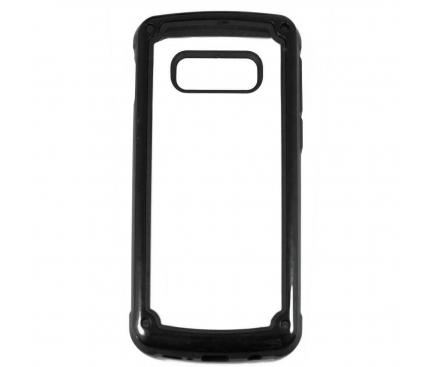 Husa TPU OEM Pancer Antisoc pentru Samsung Galaxy Note 10 N970 / Samsung Galaxy Note 10 5G N971, Neagra - Transparenta, Bulk