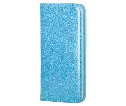 Husa Piele Forcell SHINING Book pentru Apple iPhone 7 / Apple iPhone 8, Bleu, Bulk