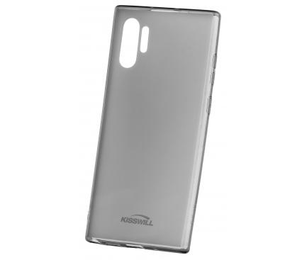 Husa TPU Kisswill pentru Samsung Galaxy Note 10 N970 / Samsung Galaxy Note 10 5G N971, Gri - Transparenta, Blister