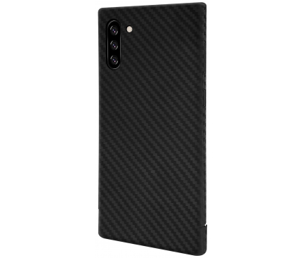 Husa Fibra Carbon Nevox pentru Samsung Galaxy Note 10 N970 / Samsung Galaxy Note 10 5G N971, CarbonSeries, Neagra, Blister