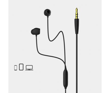 Handsfree Casti In-Ear Remax RM-550, Cu microfon, 3.5 mm, Negru, Blister