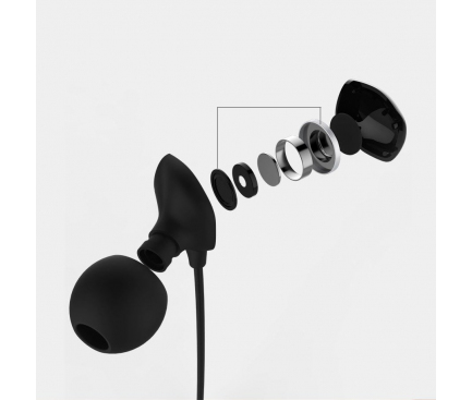 Handsfree Casti In-Ear Remax RM-550, Cu microfon, 3.5 mm, Negru, Blister