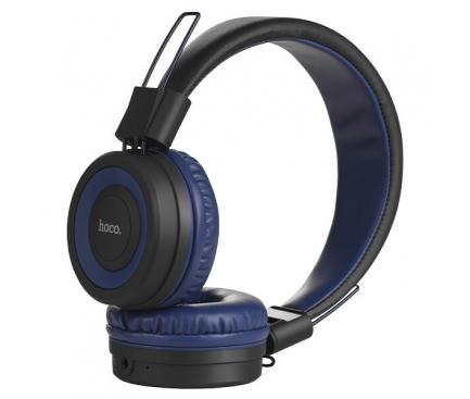 Handsfree Casti Bluetooth HOCO Cool Motion W16, SinglePoint, Bleumarin, Blister