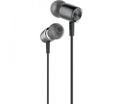 Handsfree Casti In-Ear Borofone U-Melody BM15, Cu microfon, 3.5 mm, Gri, Blister
