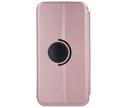 Husa Piele OEM Elegance Universala pentru Telefon 6,1 - 6,7 inci, 167 x 79 mm, Roz Aurie, Bulk