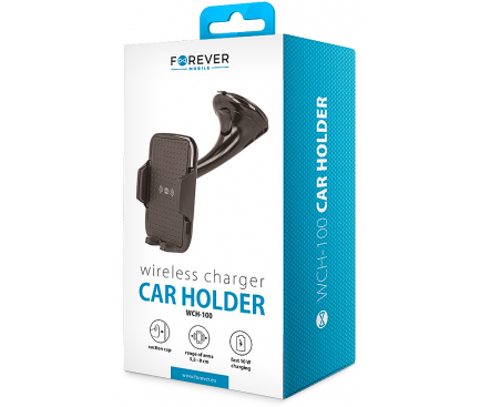 Incarcator Auto Wireless Forever WCH-100, Quick Charge, 10W, Negru, Blister