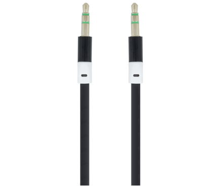 Cablu Audio 3.5 mm la 3.5 mm Forever Audio, 1 m, Negru, Blister