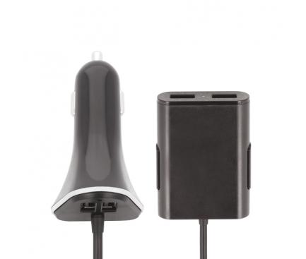 Incarcator Auto Statie USB Forever Charge, 4 x USB, Negru, Blister