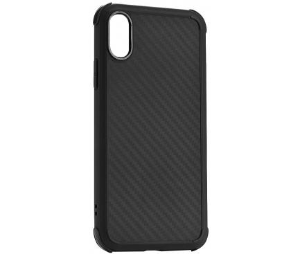 Husa TPU Roar Armor Carbon pentru Apple iPhone 7 / Apple iPhone 8, Neagra, Blister
