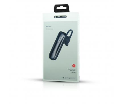 Handsfree Casca Bluetooth JELLICO S200, SinglePoint, Negru, Blister