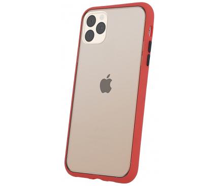 Husa TPU OEM Colored Buttons pentru Apple iPhone 7 / Apple iPhone 8, Rosie, Bulk