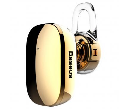 Handsfree Casca Bluetooth Baseus Encok A02, MultiPoint, Auriu, Blister NGA02-0V
