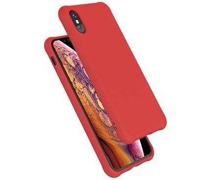 Husa TPU OEM Shockproof Frosted pentru Apple iPhone X / Apple iPhone XS, Rosie, Bulk