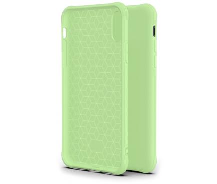Husa TPU OEM Shockproof Frosted pentru Apple iPhone X / Apple iPhone XS, Vernil, Bulk
