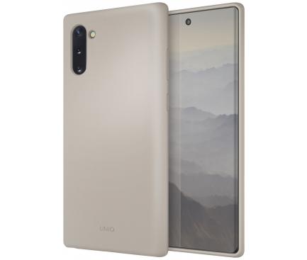 Husa TPU UNIQ Lino pentru Samsung Galaxy Note 10 N970 / Samsung Galaxy Note 10 5G N971, Bej, Blister