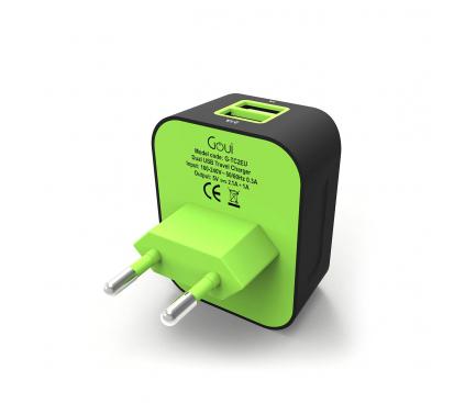 Incarcator Retea USB Goui Spot +D, PD Charge, 30W, 1 X USB - 1 x USB Type-C, Negru, Blister G-TC2PD-01K