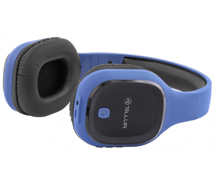 Handsfree Casti Bluetooth Tellur Pulse Over-ear, Cu microfon, SinglePoint, Albastru, Blister TLL511281