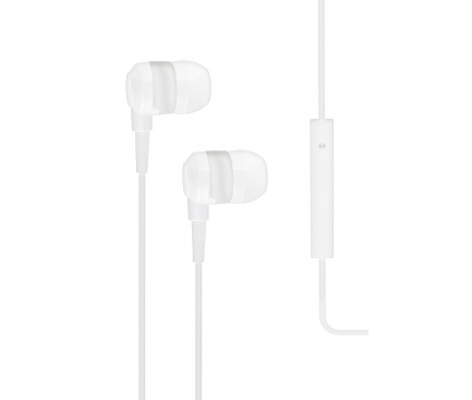 Handsfree Casti In-Ear TTEC J10, Cu microfon, 3.5 mm, Alb, Blister 2KMM10B