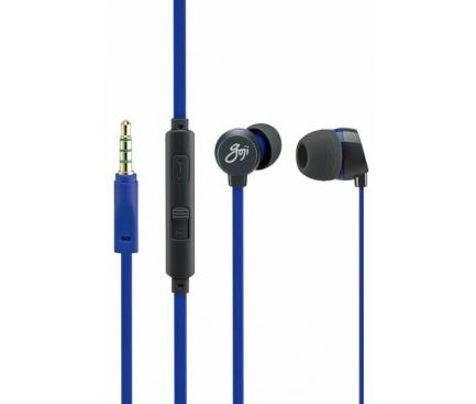 Handsfree Casti In-Ear Goji Berries, Cu microfon, 3.5 mm, Albastru, Blister GBER2BL16