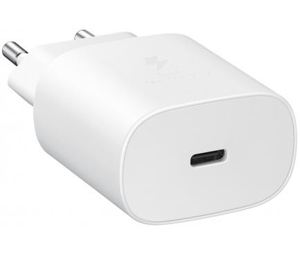 Incarcator Retea USB Samsung EP-TA800EWE, Fast Charge, 25W, 1 X USB Tip-C, Alb, Bulk