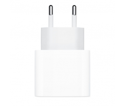 Incarcator Retea USB Apple MU7V2R , Fast Charge, 18W, 1 x USB Type-C, Alb, Bulk