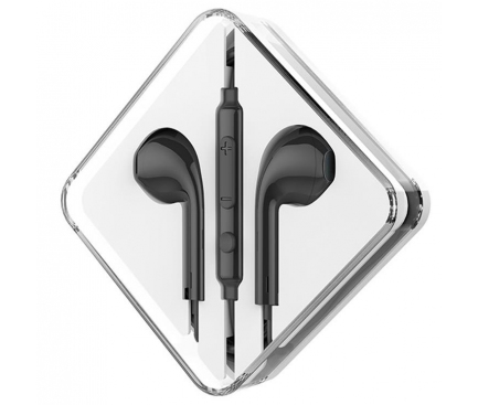 Handsfree Casti EarBuds HOCO M55 Memory Sound, Cu microfon, 3.5 mm, Negru, Blister