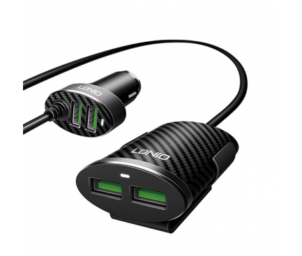 Incarcator Auto USB Ldnio C502, 5,1A, 4 x USB, Negru, Blister