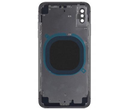 Capac Baterie - Carcasa Mijloc Negru Apple iPhone X
