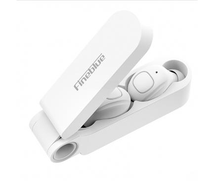 Handsfree Casti Bluetooth Fineblue F MAX TWS, SinglePoint, Alb, Blister