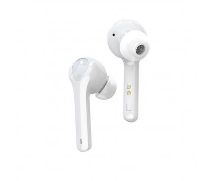 Handsfree Casca Bluetooth OEM G9, HIFI 3D Stereo, SinglePoint, Alb, Blister