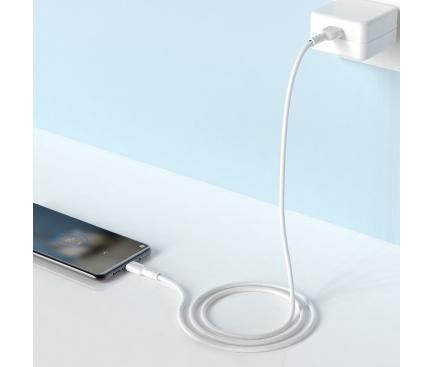 Cablu Date si Incarcare USB la USB Type-C HOCO X33 Surge, 5A, 1 m, Alb, Blister