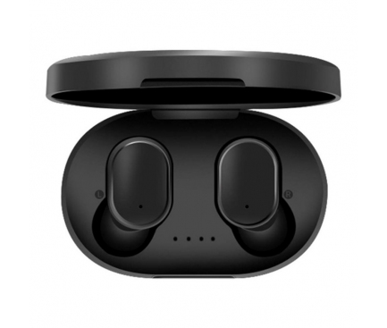 Handsfree Casti Bluetooth OEM A6S IPX4, Cu husa incarcare, Suport HD Calls & Siri & IOS Power Display, Negru, Blister