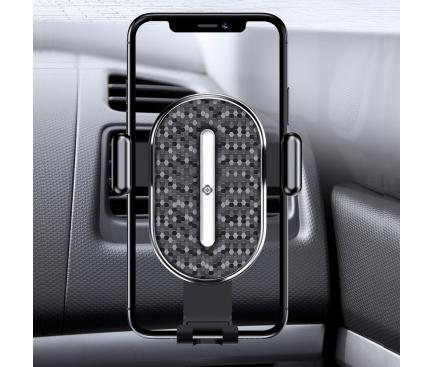 Suport Auto Universal Totu Design DCTS-16, U Shield Series II Gravity, 4-6.4 inch, Negru, Blister