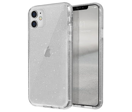 Husa Plastic - TPU UNIQ Lifepro Tinsel Apple iPhone 11, Transparenta, Blister