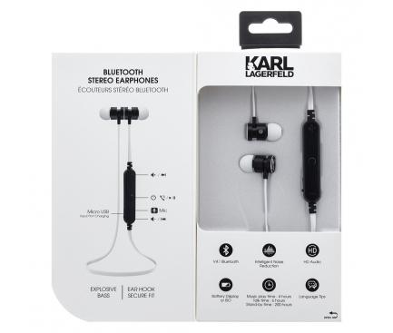 Handsfree Casti In-Ear Bluetooth Karl Lagerfeld, Alb, Blister  CGBTE07
