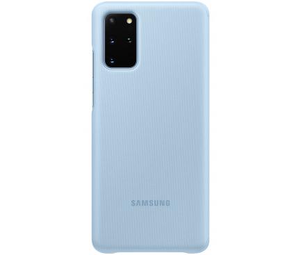 Husa TPU Samsung Galaxy S20 Plus G985 / Samsung Galaxy S20 Plus 5G G986, Clear View, Albastra EF-ZG985CLEGEU