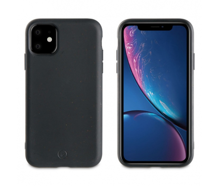 Husa Biodegradabila Muvit pentru Apple iPhone 11, Bambootek ECO, Neagra(Storm), Blister