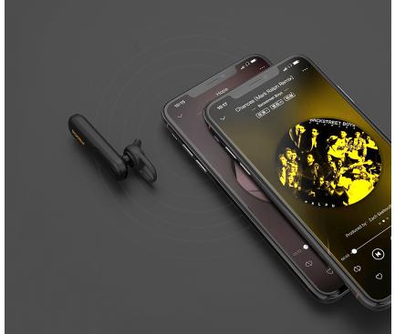 Handsfree Casca Bluetooth Proda PD-BE300, MultiPoint, Negru, Blister