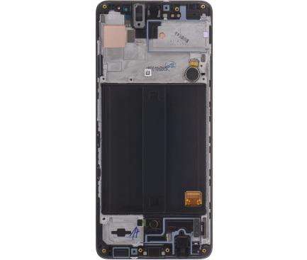 Display - Touchscreen Cu Rama / Sasiu Negru Samsung Galaxy A51 GH82-21669A