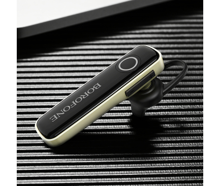 Handsfree Casca Bluetooth Borofone BC24 Joyful Business, MultiPoint, Negru, Blister