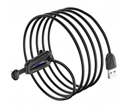 Cablu Date si Incarcare USB la Lightning Borofone BU9 Unreal gaming, 2A, 1.2 m, Negru, Blister