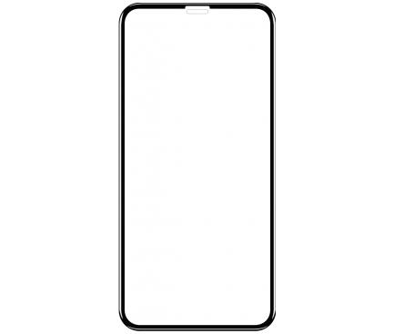 Folie Protectie Ecran OEM pentru Apple iPhone 11 Pro, Sticla securizata, Full Face, Full Glue, SMART, Neagra, Blister