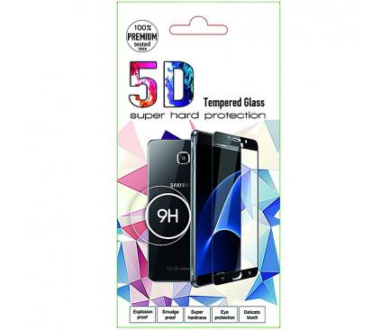 Folie Protectie Ecran OEM pentru Huawei P20 Lite (2019), Sticla securizata, Full Face, Full Glue, 0.3MM, 5D, Neagra, Blister