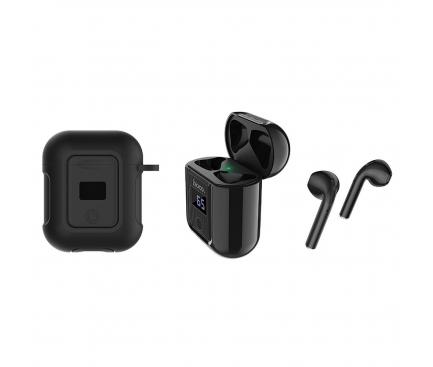 Handsfree Casti Bluetooth HOCO SELECTED Melody S11, cu Baterie Externa (400mAh), Afisaj LED, SinglePoint, Negru, Blister