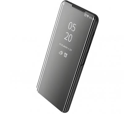 Husa Plastic OEM Clear View pentru Huawei Y7 (2019) / Huawei Y7 Prime (2019), Neagra, Blister
