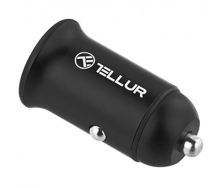 Incarcator Auto USB Tellur FCC7, PD60W, QC30W, 2 X USB, Negru, Blister TLL151251