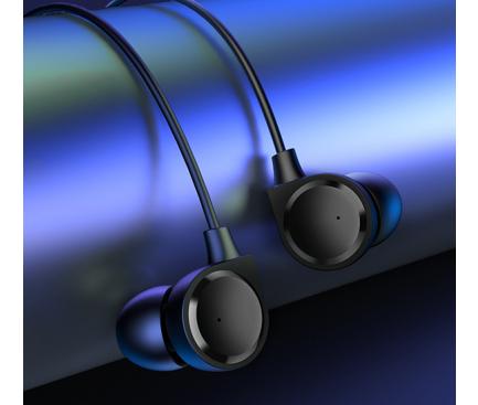 Handsfree Casti In-Ear Usams EP-40, Cu microfon, 3.5 mm, Negru, Blister HSEP4001