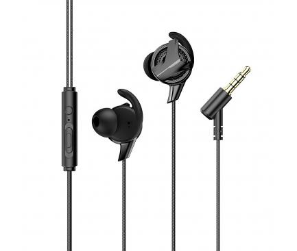 Handsfree Casti In-Ear Baseus Gamo H15, Cu microfon, 3.5 mm, Negru, Blister NGH15-01