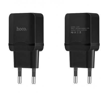 Incarcator Retea USB HOCO C22A, 1 X USB, Negru, Blister