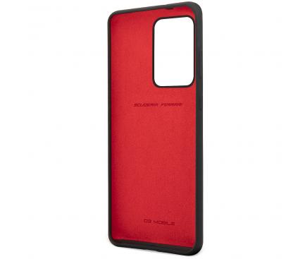Husa TPU Ferrari SF pentru Samsung Galaxy S20 Ultra G988 / Samsung Galaxy S20 Ultra 5G G988, Neagra, Blister FESSIHCS69BK